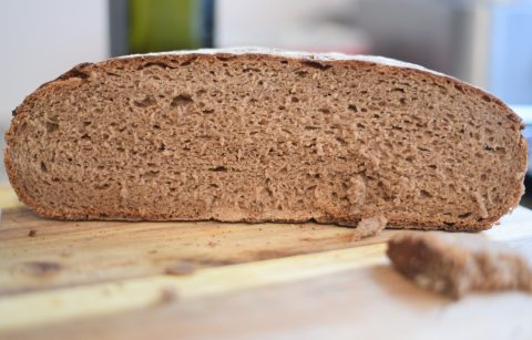 3 stage rye sourdough bread